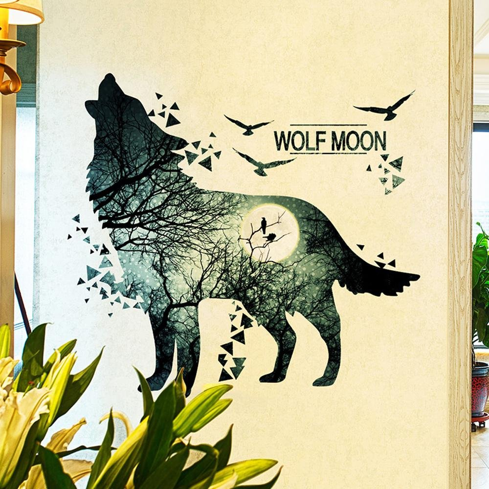 Colorful Wolf Wall Decor Vignette - Wall Art Collections ...