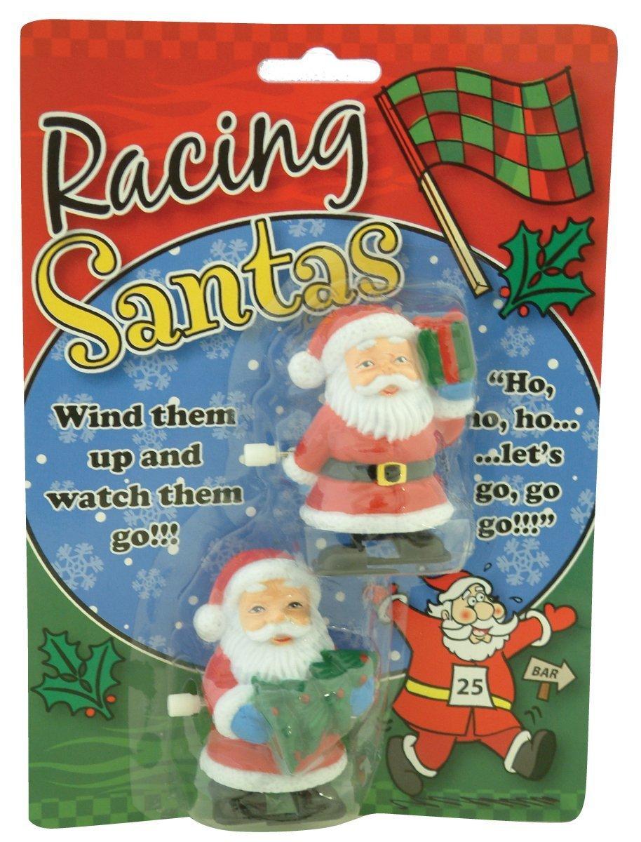 Weihnachtsmann Santa Wind Up Race Car Racing Spielzeug Weihnachten weihnachtliche Kinder Spiele 1789 TRTAZ11A