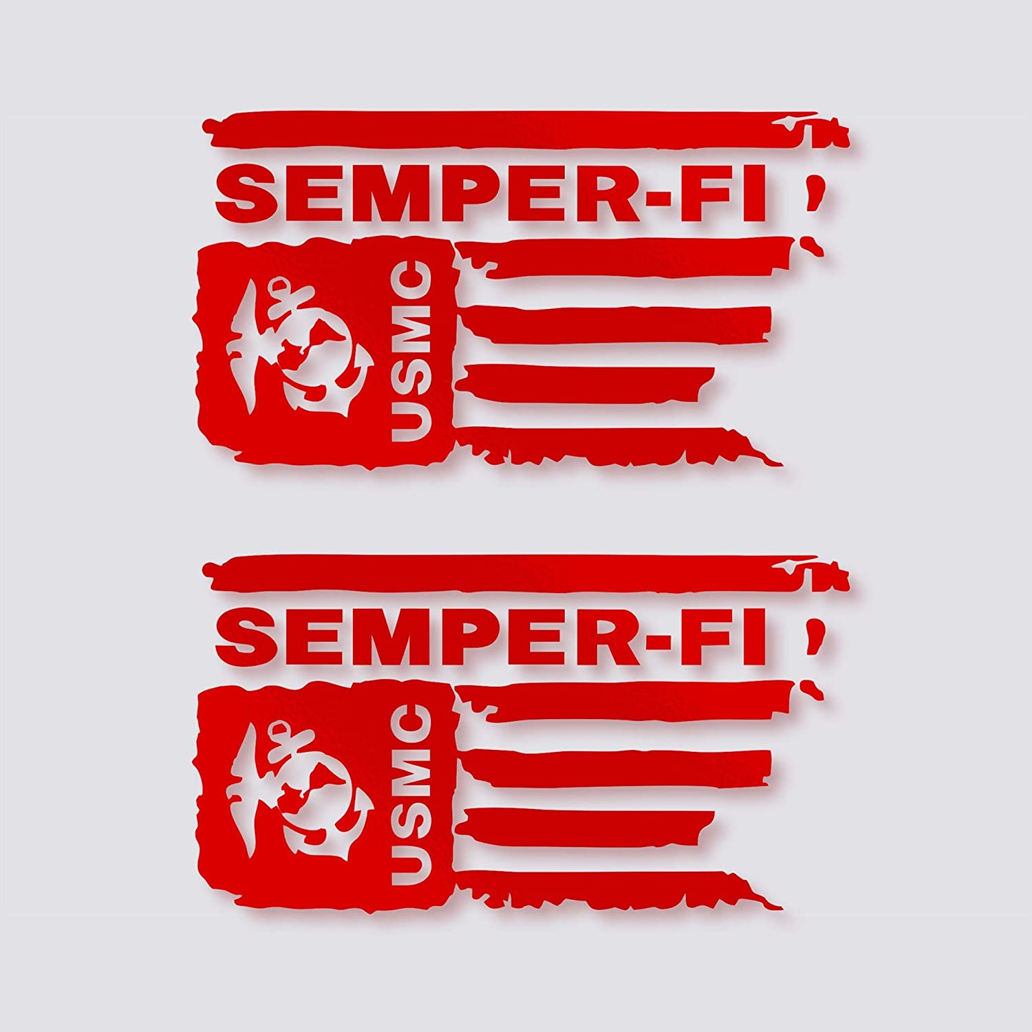USMC Semper Fi Sticker United States Marine Corps USA Military Car Decal Bumper