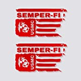 Marine Corps Decal for Car Distressed USMC Flag