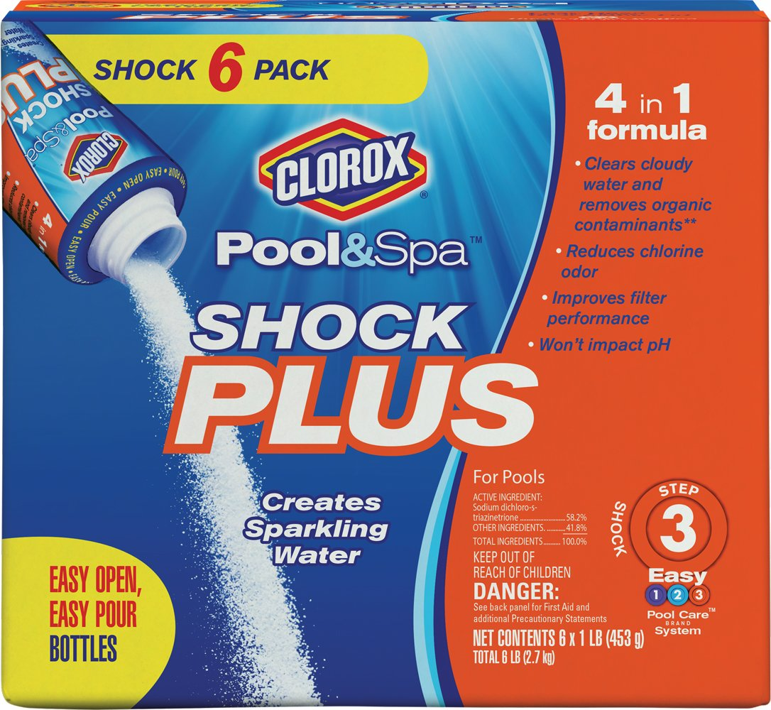CLOROX Pool&Spa Shock Plus, 6-Pound 32006CLX