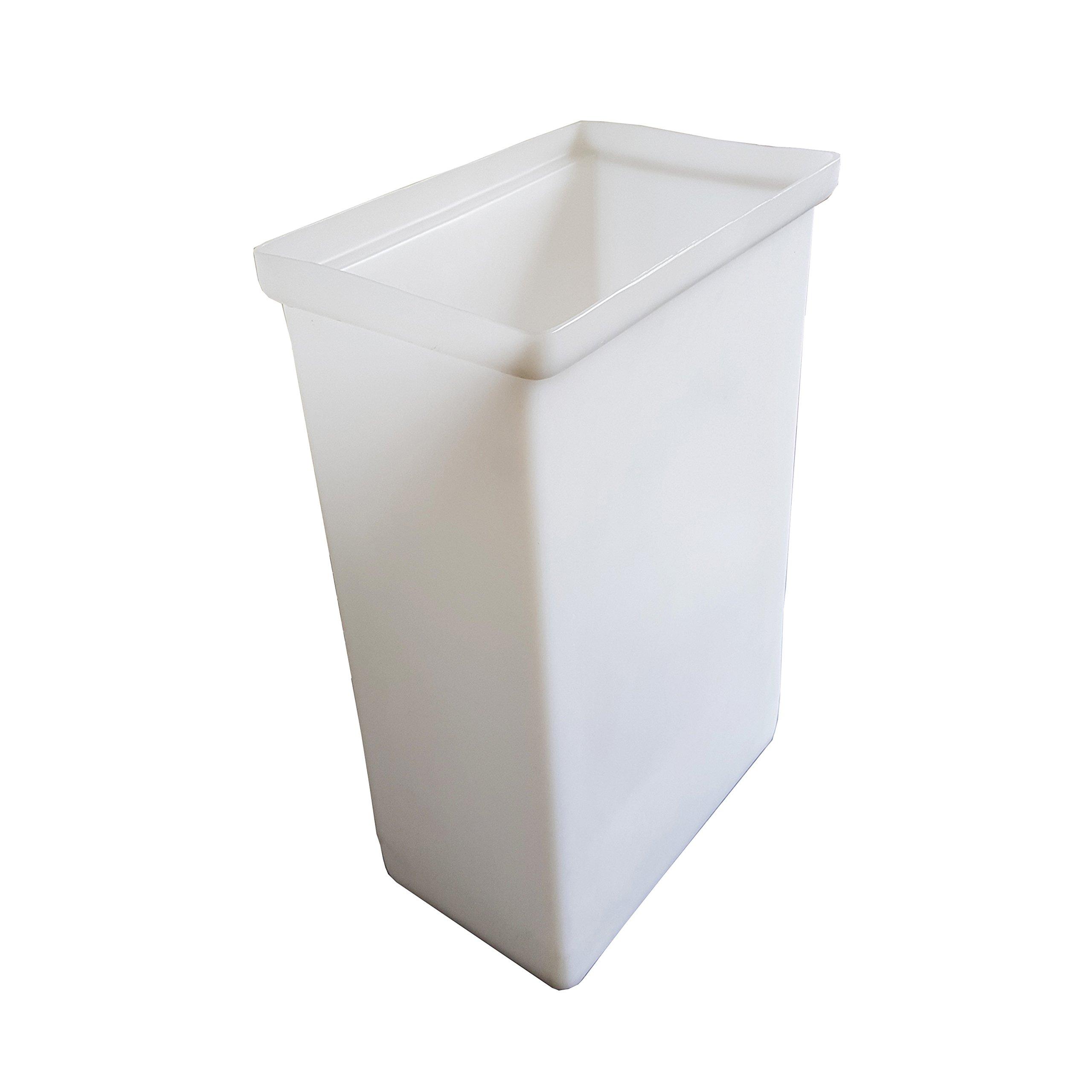 Winholt 148BIN-WH Ingredient Bin, 9 1/4'' Width x 14 5/8'' Length x 23 1/4'' Height, White