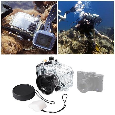 carcasa submarina 40m 130ft Carcasa acuática impermeable para cámara Sony DSC-RX100 II M2 LF267
