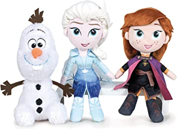 Disney Frozen - Pack Peluches 20cm Princesas Elsa y Anna + Olaf ...