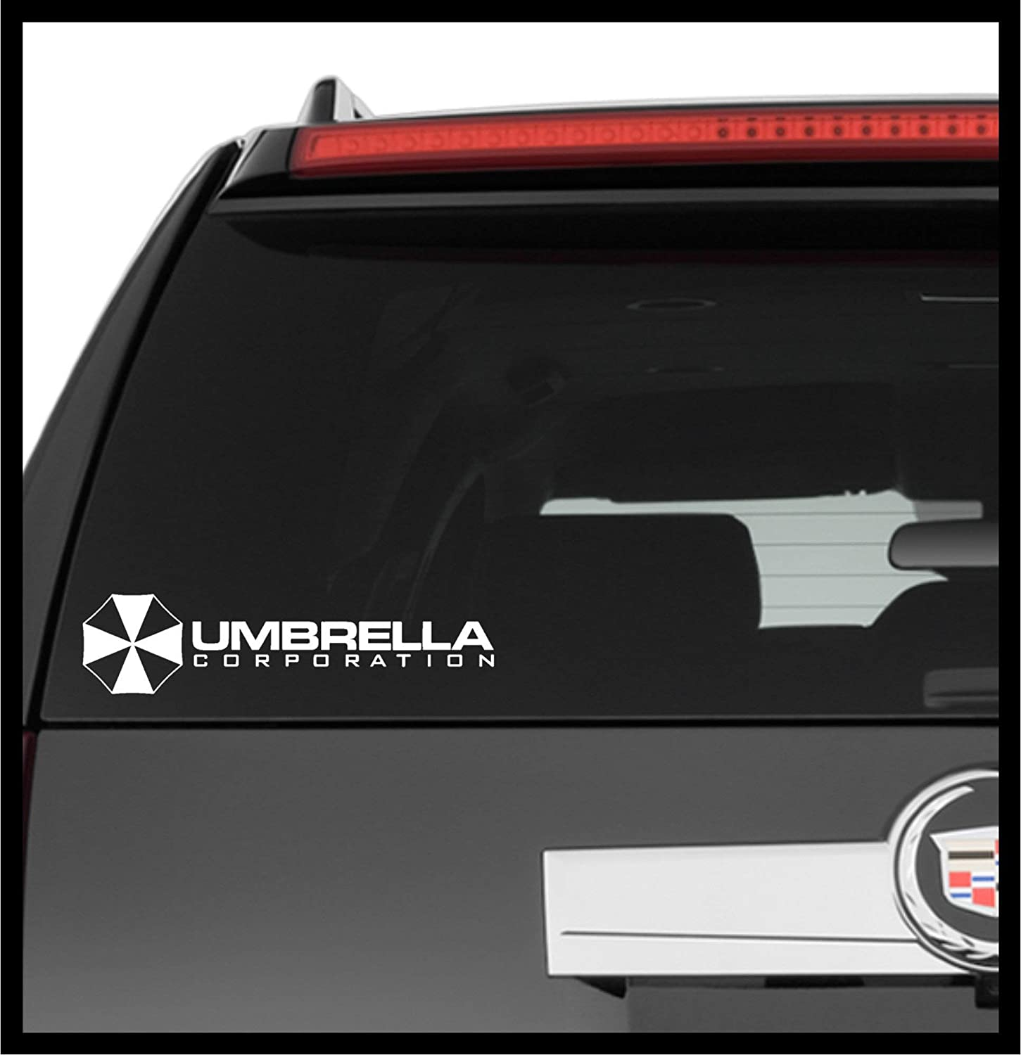 A Design World Decals for Cars Resident Evil Umbrella Corporation Logo Symbol Comics - Vinyl Decal Truck Car Laptop Wall Sticker
