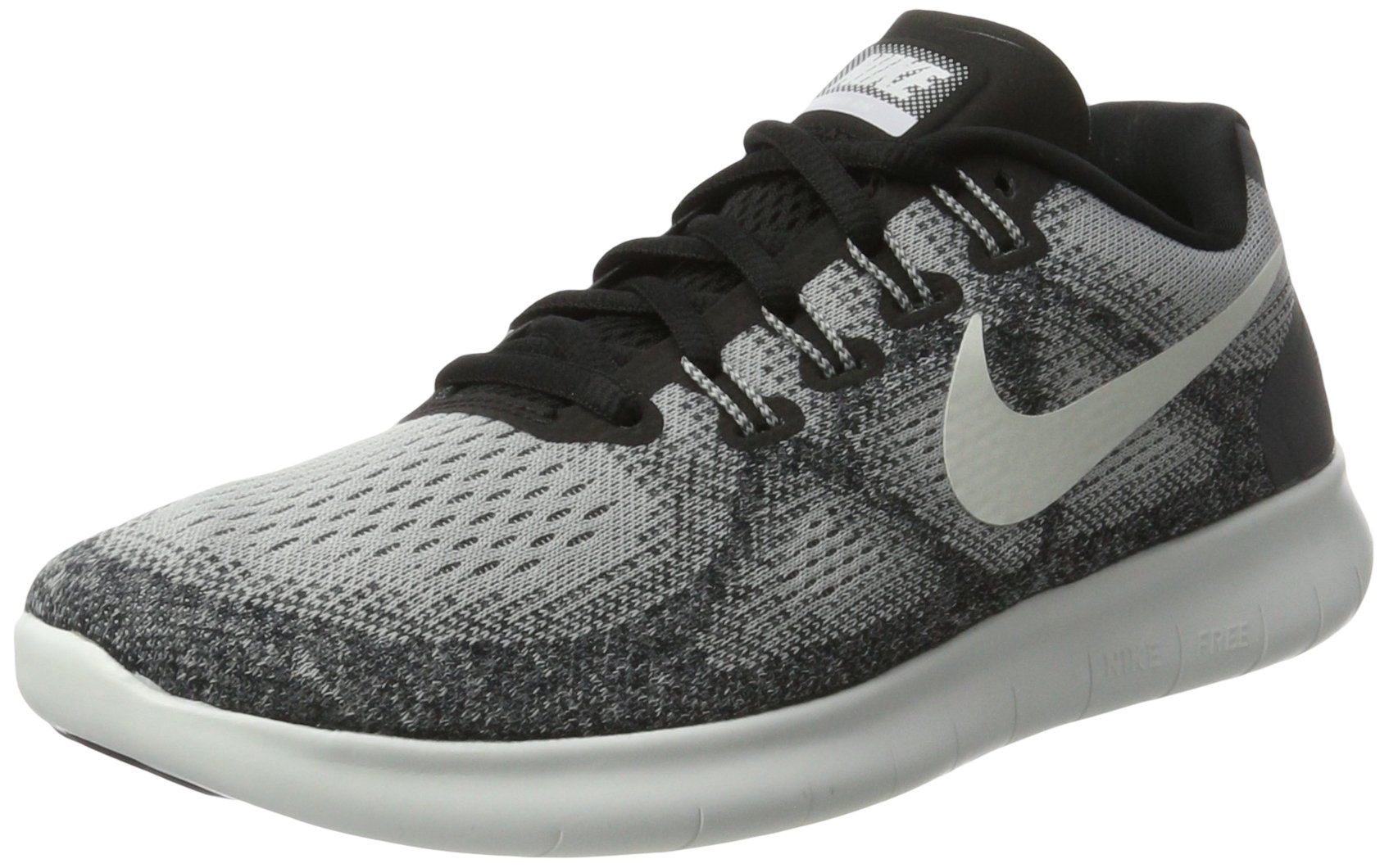 NIKE Women's Free RN 2017 Running Shoe, Wolf Grey/Off White-Pure Platinum-Black (Size 10)
