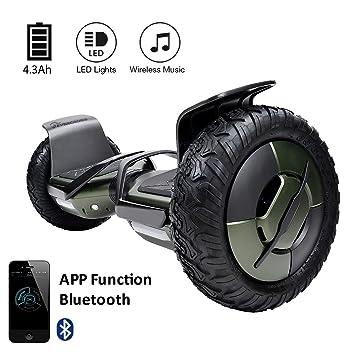 EverCross Phantom Hoverboard Patín Eléctrico 2 Ruedas 10 Pulgadas LED Batería de Samsung 300WX2