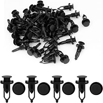 uxcell uxcell 20 Pcs 10mm Hole Retainer Clips Plastic Drive Rivets Mud Flaps Bumper Fender Push Clips for Honda