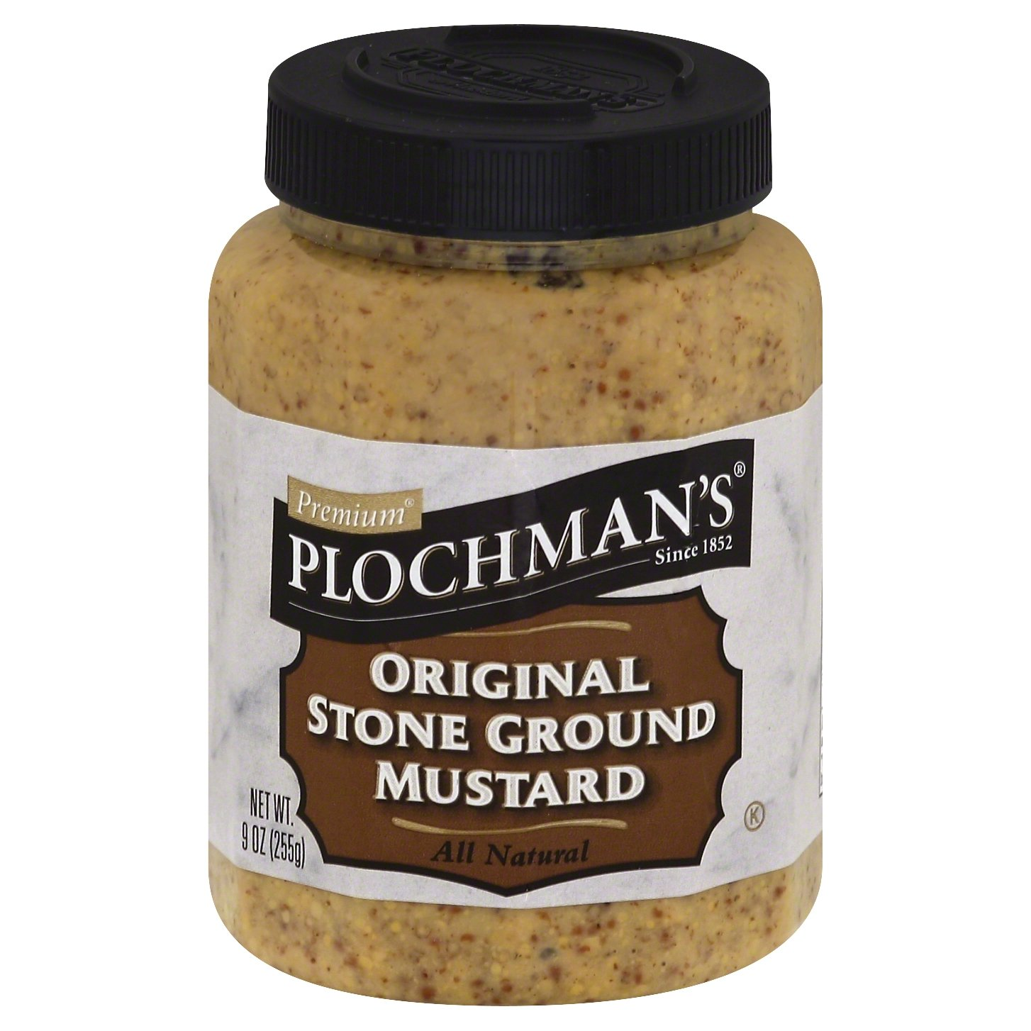 Plochman's Natural Stone Ground Mustard, 9-Ounce Jars (Pack of 12)