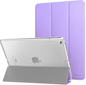 MoKo Case Fit 2018/2017 iPad 9.7 6th/5th Generation - Slim Lightweight Smart Shell Stand Cover with Translucent Frosted Back Protector Fit iPad 9.7 Inch 2018/2017, Spring Lilac(Auto Wake/Sleep)