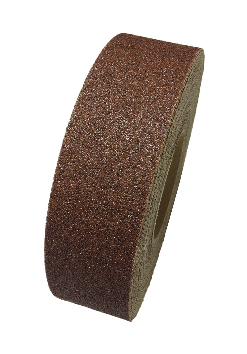 Safe Way Traction 2'' X 12' Roll Brown Abrasive Grit Anti Slip Non Skid Adhesive Safety Tape Made in the USA by Sure-Foot Industries 88206-12