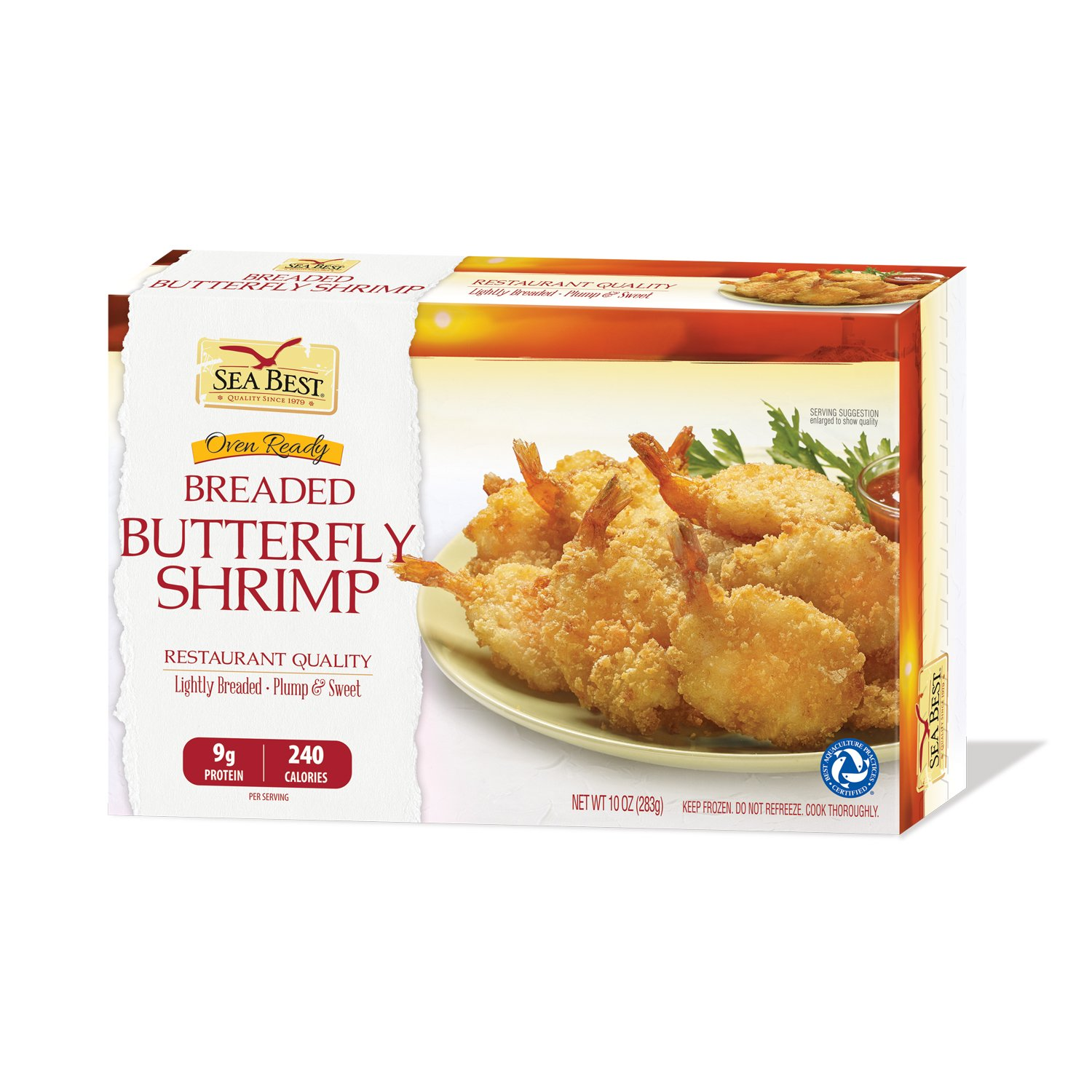 Sea Best 21 25 Butterfly Breaded Shrimp 10 Ounce Amazon Com Grocery Gourmet Food