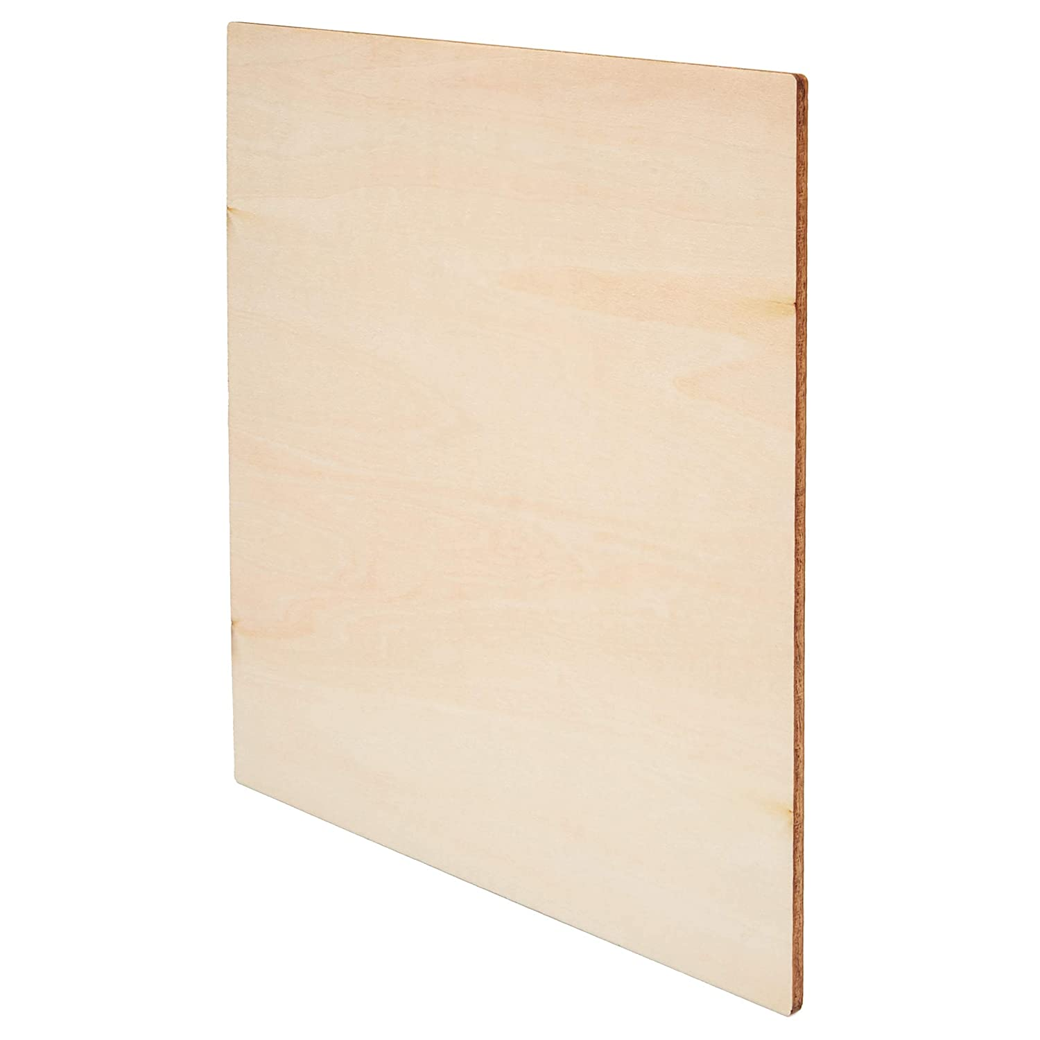 Bright Creations 8-Pack Square Basswood Plywood Thin Sheets for Wood Burning 8 Inches