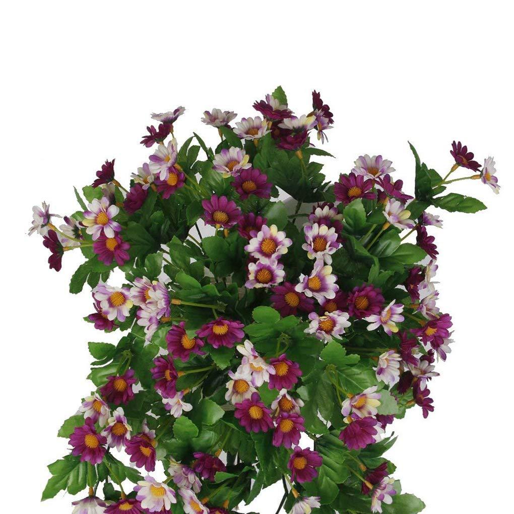 Zerama Flores Artificiales Daisy Vine Decorativas Plantas Rattan Colgar de la Pared Ornamentos Partido decoraci/ón de la Boda