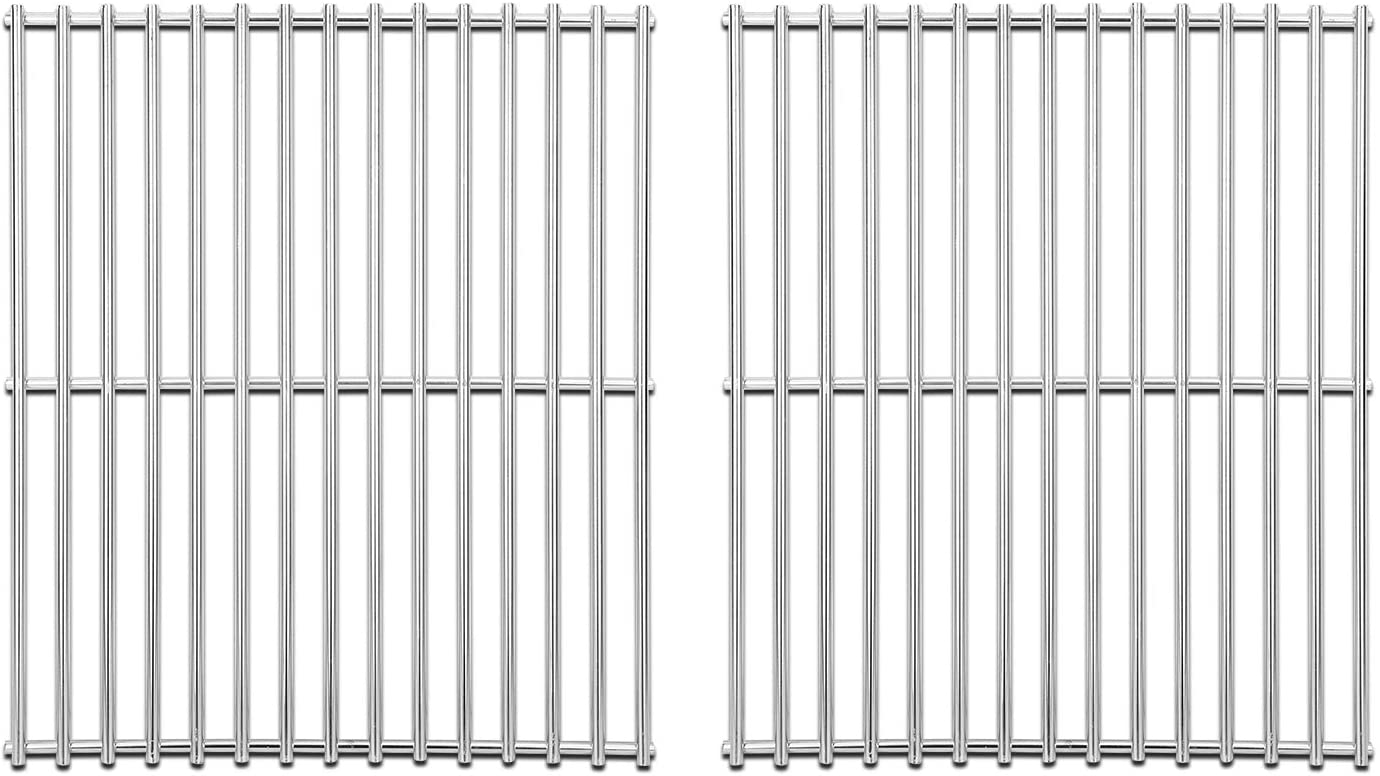 Amazon Com Stainless Steel Cooking Grates For Broil King 9865 54 9221 64 Broil Mate 165154 Grill Grid Replacement For Huntington And Sterling Gas Grill Models 15 Grill Grates Parts Set Of 2 Grids Garden Outdoor