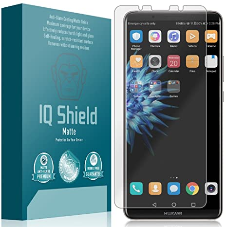 IQ Shield Matte Full Coverage Anti-Glare Screen Protector for Huawei Mate  10 Pro Anti-Bubble Film