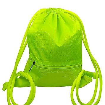 Mochila de Cordón Bolsa de Cuerdas Coolzon® Unisex Saco Deporte Bolso Gimnasio de Nylon con