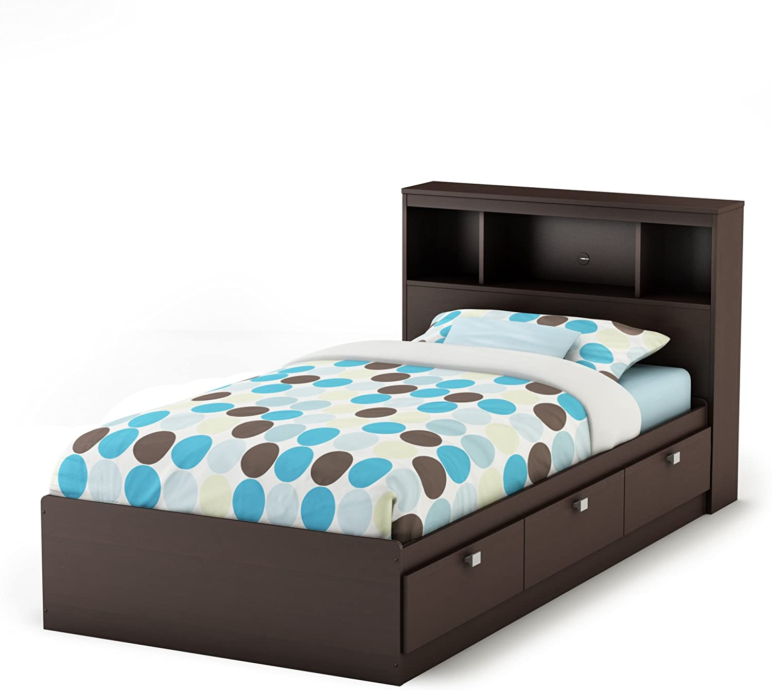Amazon Com South Shore Twin Storage Bed And Bookcase Headboard