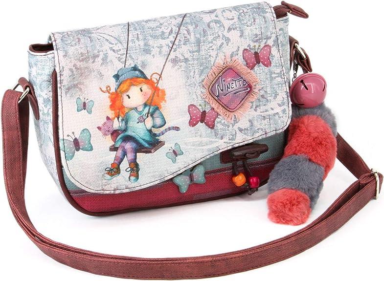 Forever Ninette Ninette Swing-Moon Schultertasche Borsa Messenger Multicolour 20 cm Klein Multicolore