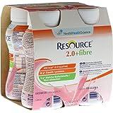 RESOURCE 2.0+fibre Erdbeere 4x200 Milliliter