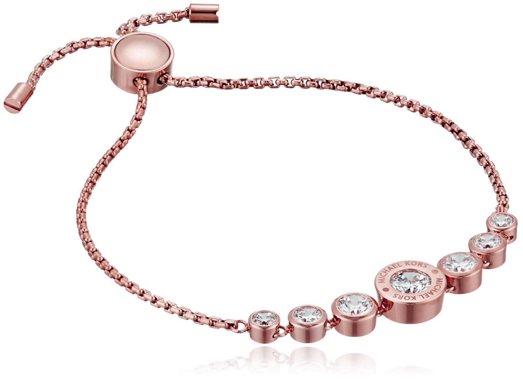 Michael Kors Logo Jet Set Crystal Slider Bangle Bracelet