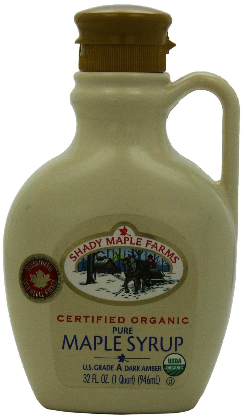 Shady Maple Farms Organic Maple Syrup Grade A, Dark Amber, 32 Ounce