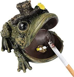 Monsiter Frog Ashtray for Cigarettes Creative Home and Outdoor Ashtray