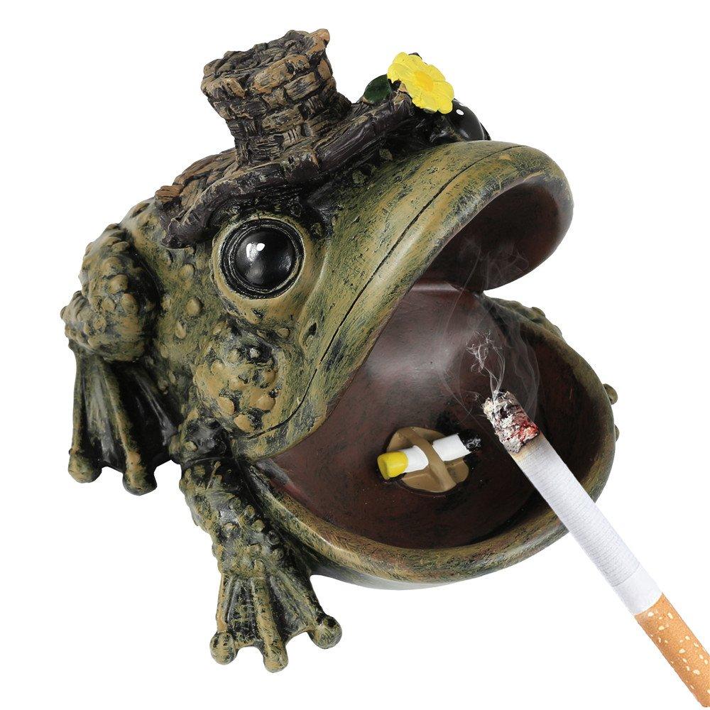 Monsiter Cendrier cré atif grenouille cendrier avec couvercle Cadeaux pour petit ami Others