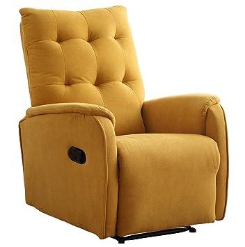 SUENOSZZZ-ESPECIALISTAS DEL DESCANSO Sueños ZZZ | Sillon Relax reclinable Swing tapizado Tela Mostaza | Sillon reclinable butaca Relax | Sillon ...
