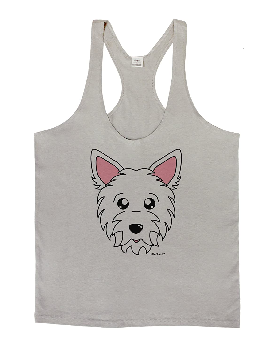 TooLoud Cute West Highland White Terrier Westie Dog Mens String Tank Top