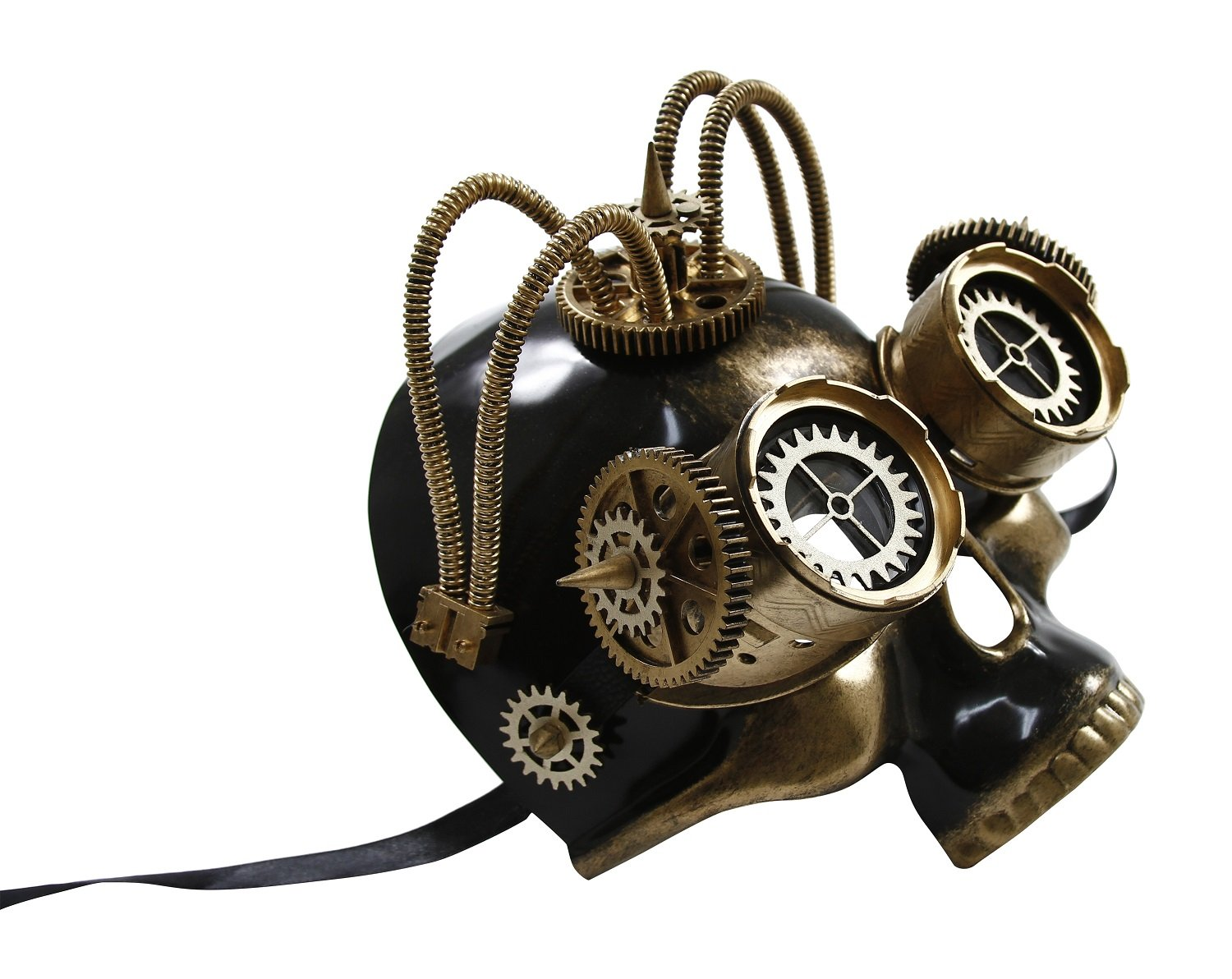 KAYSO INC The Astronomer II Steampunk Full Face Venetian Masquerade Mask (Vintage Gold)