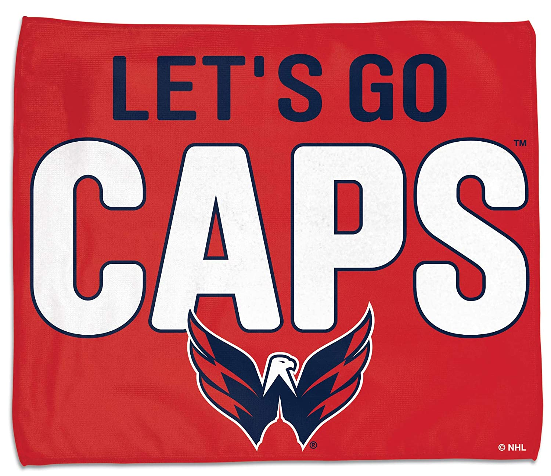 WinCraft Washington Capitals Lets go Caps Rally Towel 15x 18