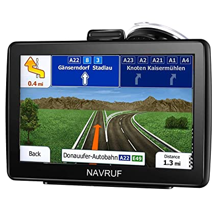 GPS Navigation for Car, HD Touch 7-inch 8GB GPS Navigator, Voice Traffic Warning, Driving Alarm, Sun Visor and Lifetime Free Update Map
