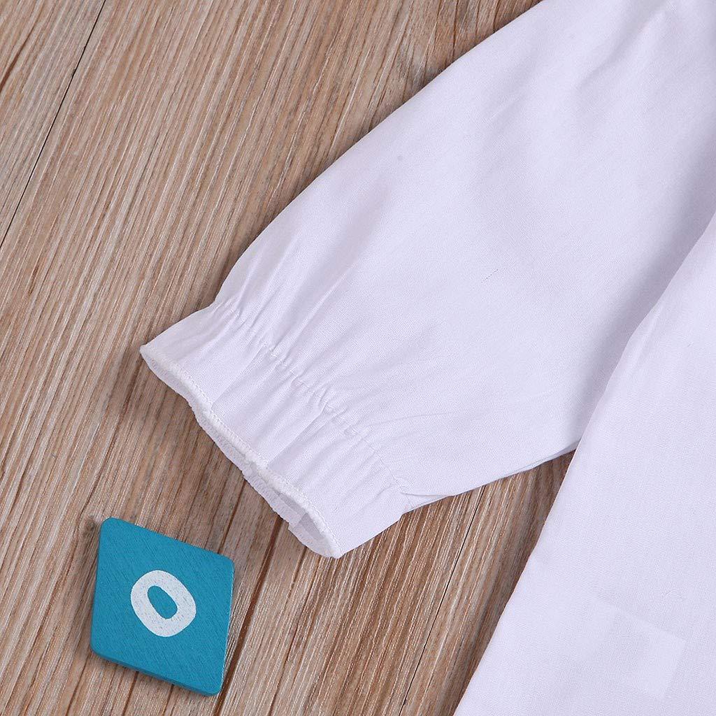 Mameluco Correa Falda Ropa de Beb/é Volantes Monos Peleles de Manga Larga Ni/ñas Ni/ños Camisas Primavera Oto/ño Trajes Ni/ño Ni/ña 0-3 A/ños Mitlfuny Conjunto de 2 Piezas Tops Camisetas