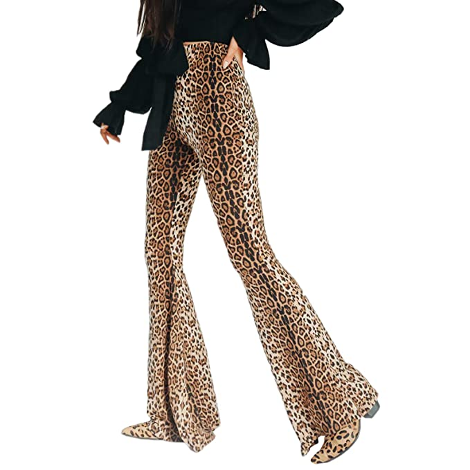 56da72109762f Limtery Women's Sexy Leopard Print Rockabilly Crop Top Vest Bodysuit  Clubwear (Small, Pants)