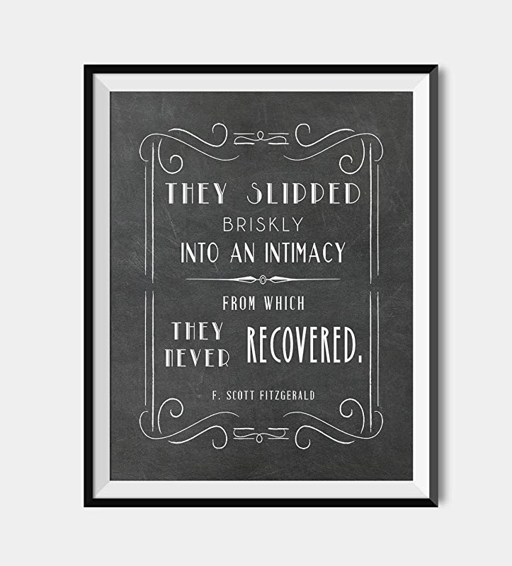 Fitzgerald Gatsby quote Dictionary page art print gift  Literary Gift Humour