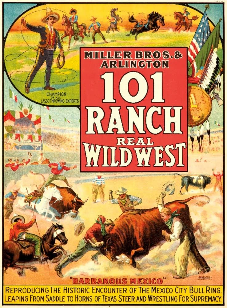 Red Horse Ranch Rodeo vintage event travel poster repro 16x24