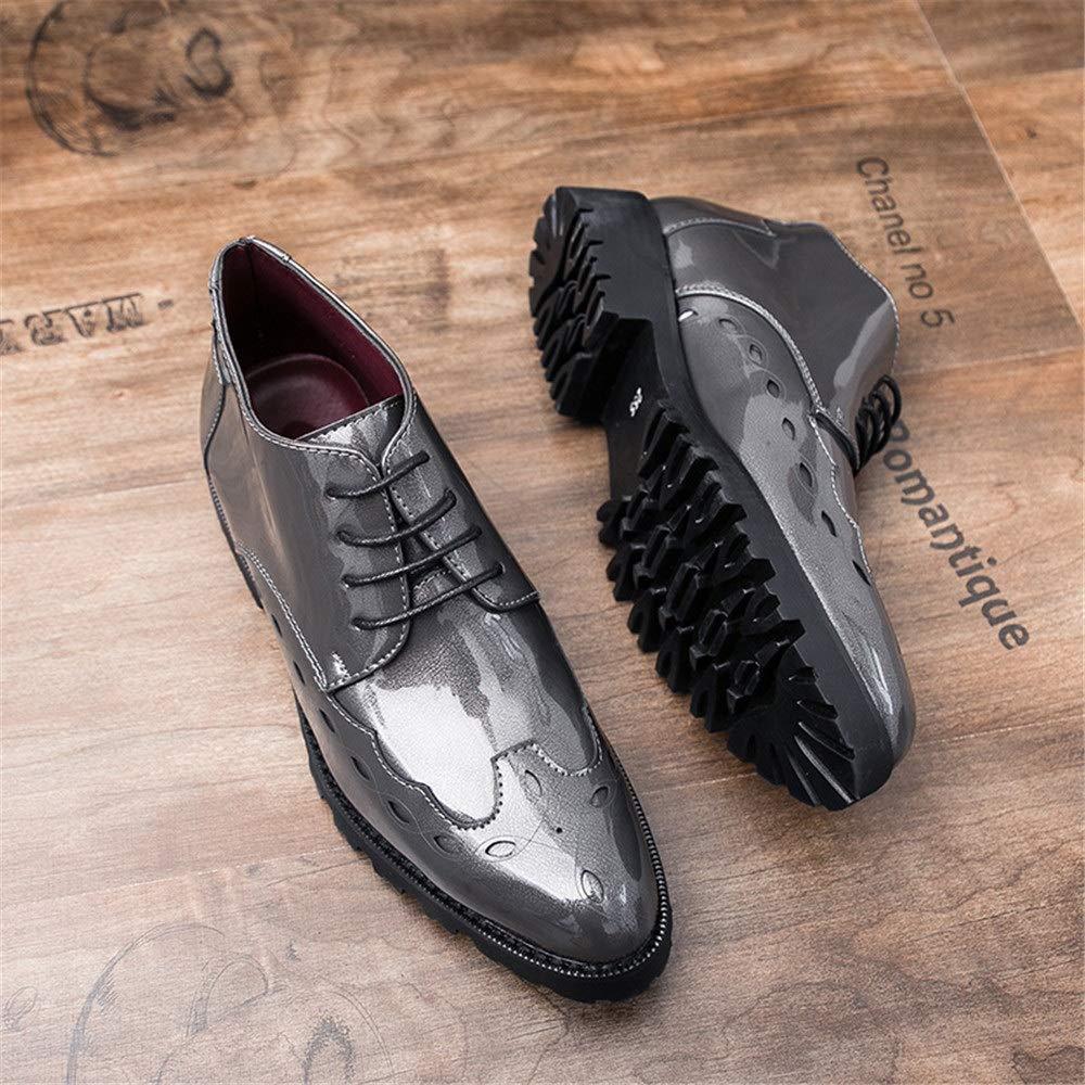 Oxford Casual Estilo Nuevo de los Hombres de Negocios con Zapatos Brogue de Charol Transpirable Medio Alto: Amazon.es: Zapatos y complementos