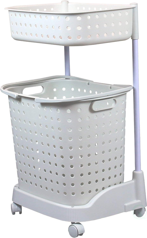 Basicwise QI003311 Plastic Laundry Hamper
