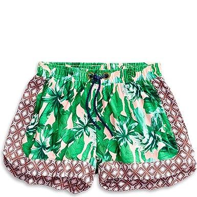 1ed6b5ff38 Amazon.com: Sperry Top-Sider Tropical Palm Print Beach Short Women M Multi:  Clothing