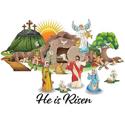 Amazon Com Colonel Pickles Novelties Resurrection Easter Window