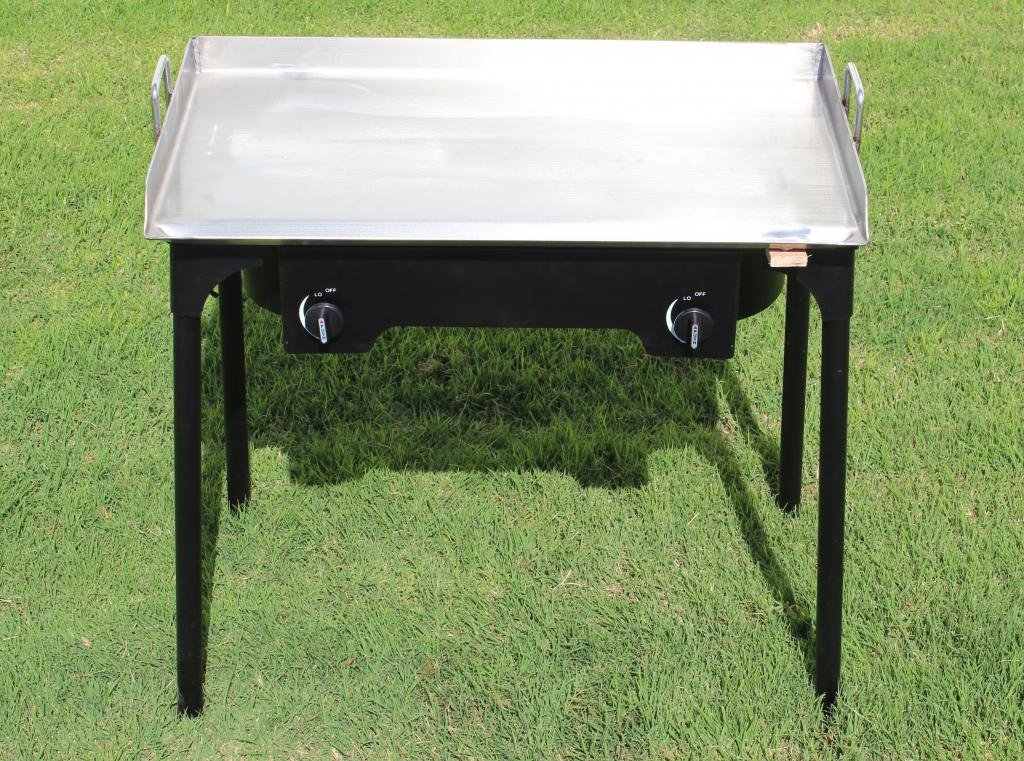 CONCORD 32 x 17 Stainless Steel Flat Top Griddle Grill w/ Manual Ignition Double Burner Stove by Concord