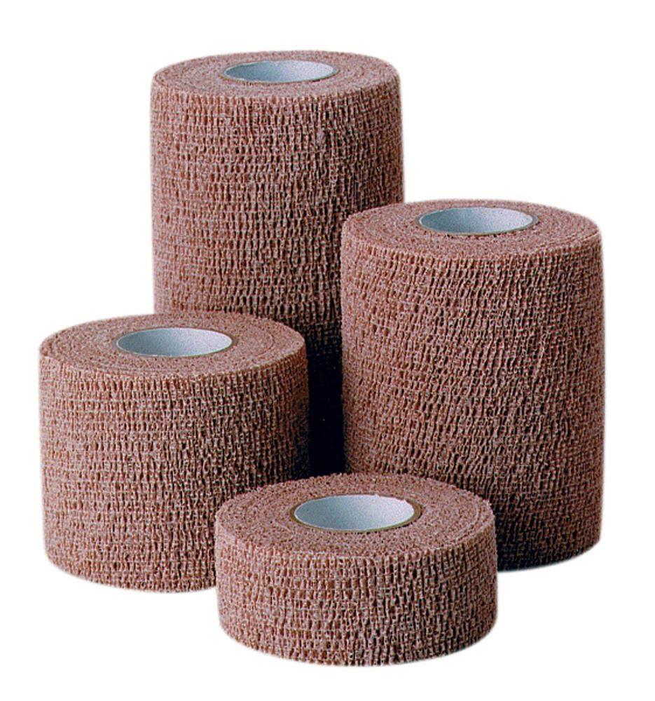 Co-Flex, Tan, 1.5 inches x 5 yards, 48 rolls per case by Coflex