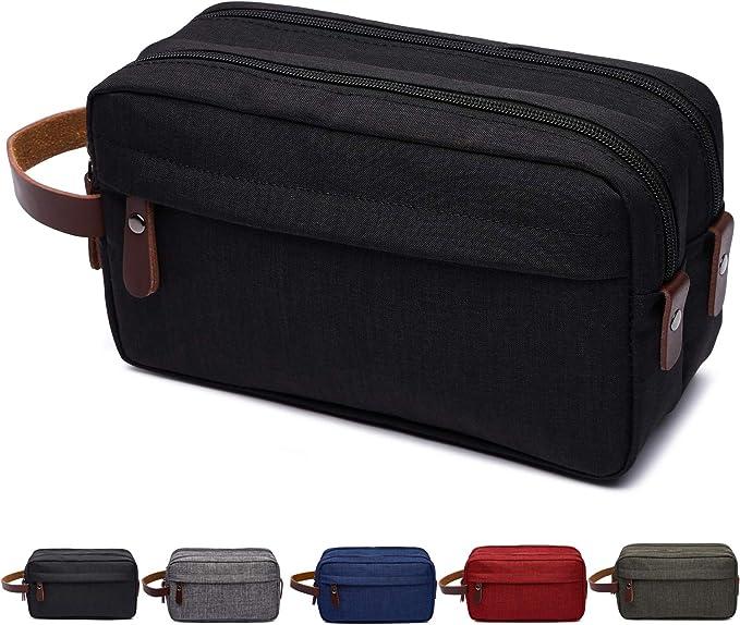 Amazon.com: Bolsa de aseo para hombre, kit de viaje Dopp ...