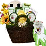 Gardeners Hand and Body Relief Green Tea Spa Bath and Body Gift Basket