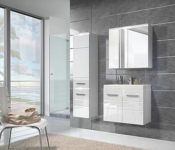 Badezimmer Unterschrank Toledo 60 Cm Waschbecken Weiß Hochglanz Fronten    Storage Unterschrank Spüle Möbel