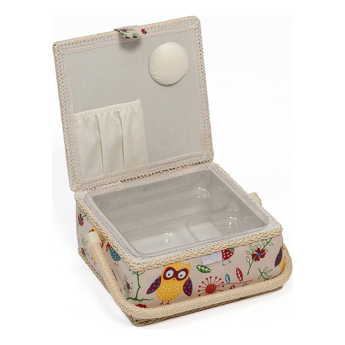 Amazon.com Hobby Gift Owl Design Sewing Box on Natural Small (20 x 20 x 11cm)  sc 1 st  Amazon.com & Amazon.com: Hobby Gift Owl Design Sewing Box on Natural Small (20 ... Aboutintivar.Com