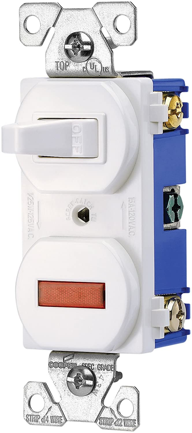 Eaton 277v 15 Amp 120 Volt Combination Single Pole Toggle Switch And Pull Out Wiring Diagram Pilot Light With Back Side Ivory Wall Switches