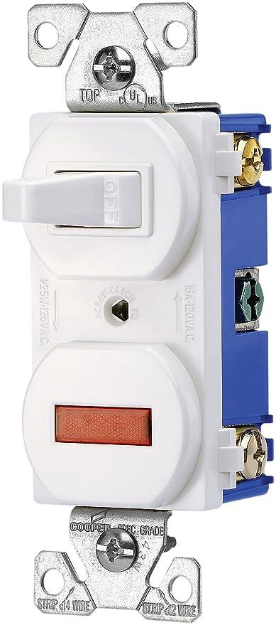 Eaton 277W 15-Amp 120-volt Combination Single Pole Toggle Switch and ...