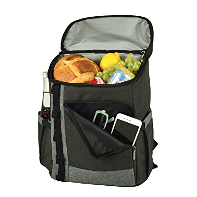 Picnic at Ascot Cooler Backpack- Large 30 Can capacity- Lightweight Insulated & Leak-Proof for Men & Women- Camping, Hiking, Beach, Park or Day Trips: Kitchen & Dining